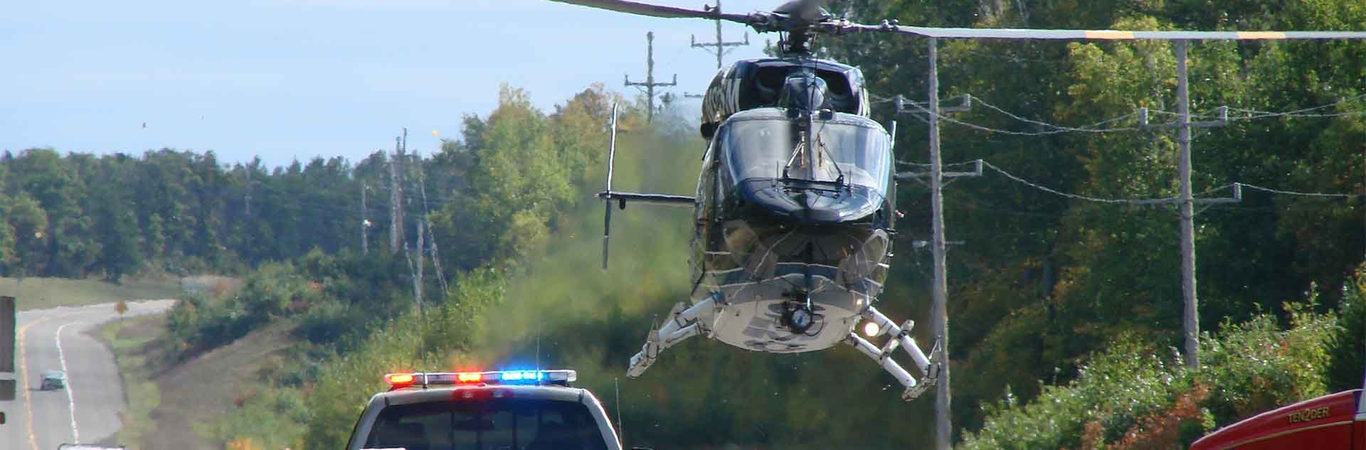 Douglas County Sheriff helicopter.
