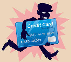 cartoon person running with a credit card
