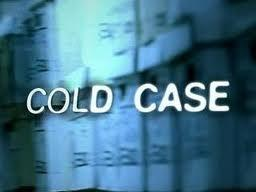 Cold Case words on blue background showing filing system