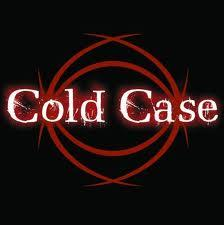 Cold Case words on black background with red circles