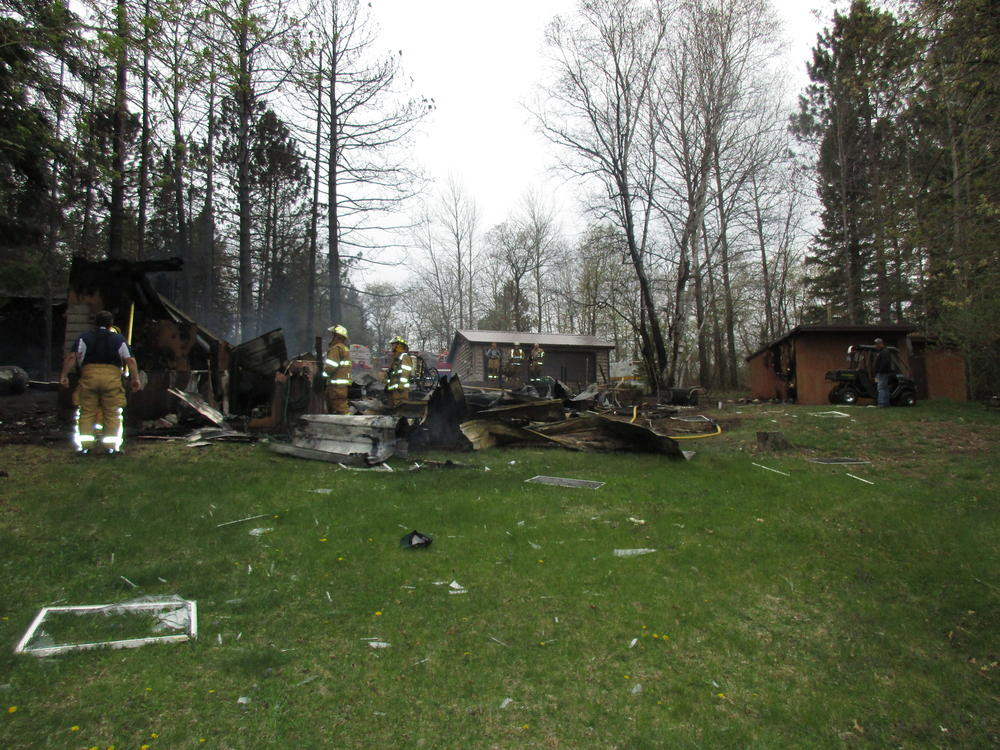Explosion, Fire Destroys Solon Springs Cabin - Press Releases